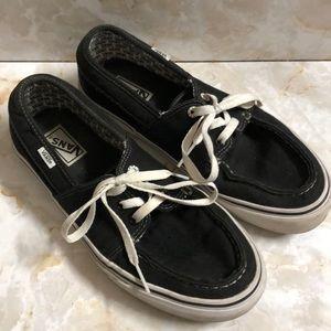 Vans black and white sz 9.5 lace-up men's